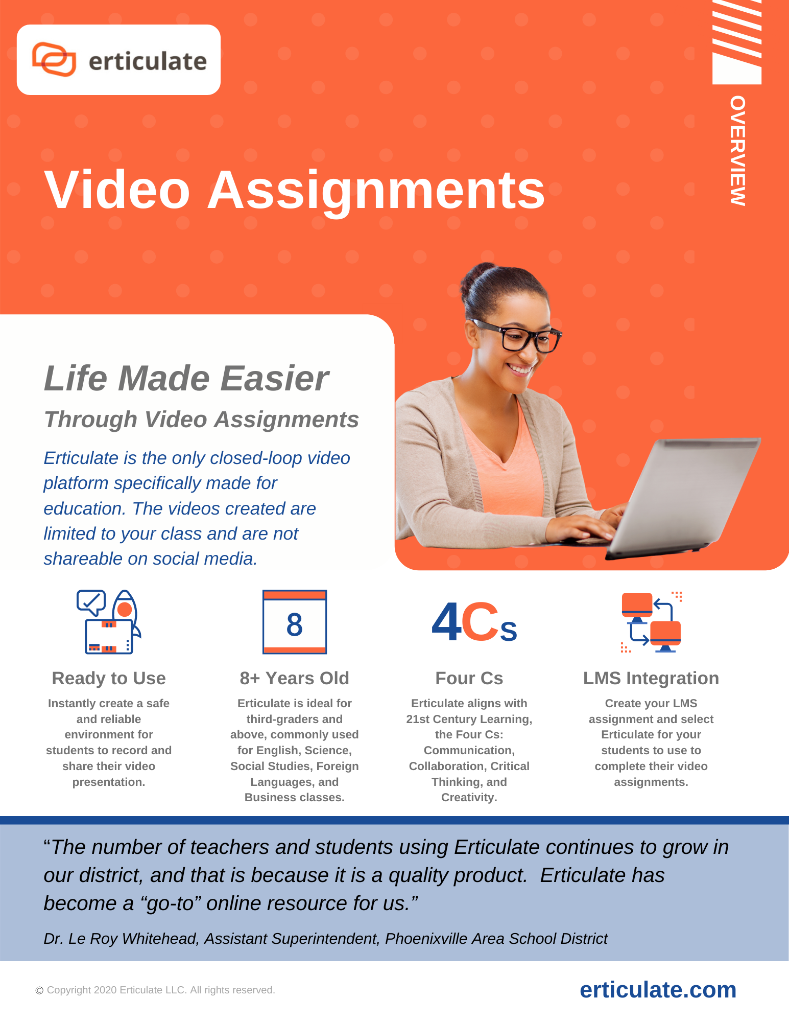 Erticulate - Video Assignments Product Sheet
